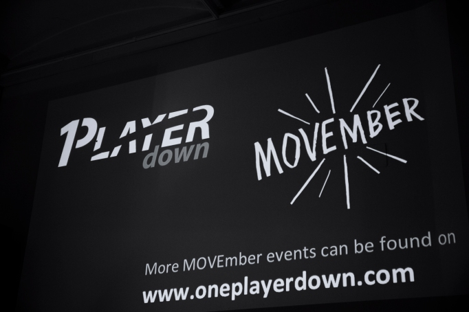One Player Down Event to kick off MOVE for Movember